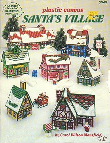 Plastic Canvas Santa's Village