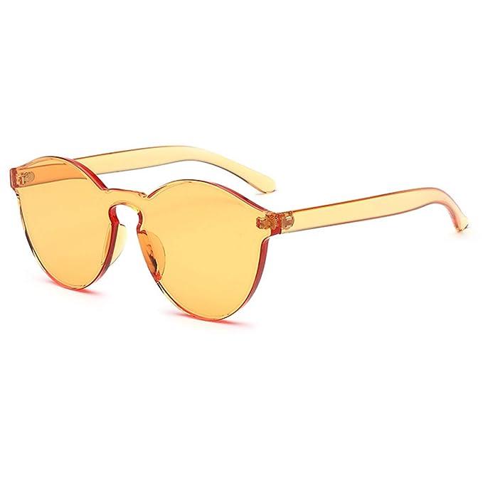 ANAZOZ Gafas de Sol Lente Amarillo Gafas de Sol de Mujer ...