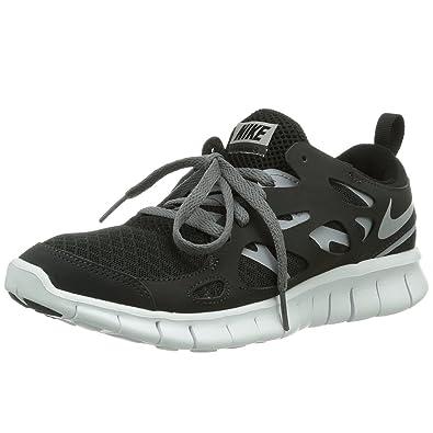 e2af0dd174751 Nike Free Run 2 Running Juniors Trainers - Black Grey-UK5.5  Amazon ...