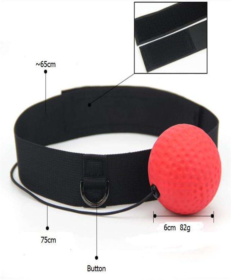 MeterMall Outdoor Products Muay Thai Ejercicio Pelota de Boxeo Equipo con Banda para la Cabeza para Entrenamiento de Velocidad Reflex
