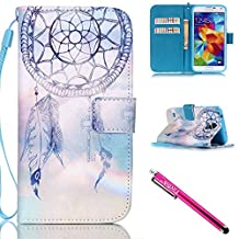 Galaxy S5 Case, Galaxy S5 Wallet Case, Firefish Stand Flip Folio Wallet Cover Shock Resistance Protective Shell with Cards Slots Magnetic Closure for Samsung Galaxy S5 i9600-Dreamnet