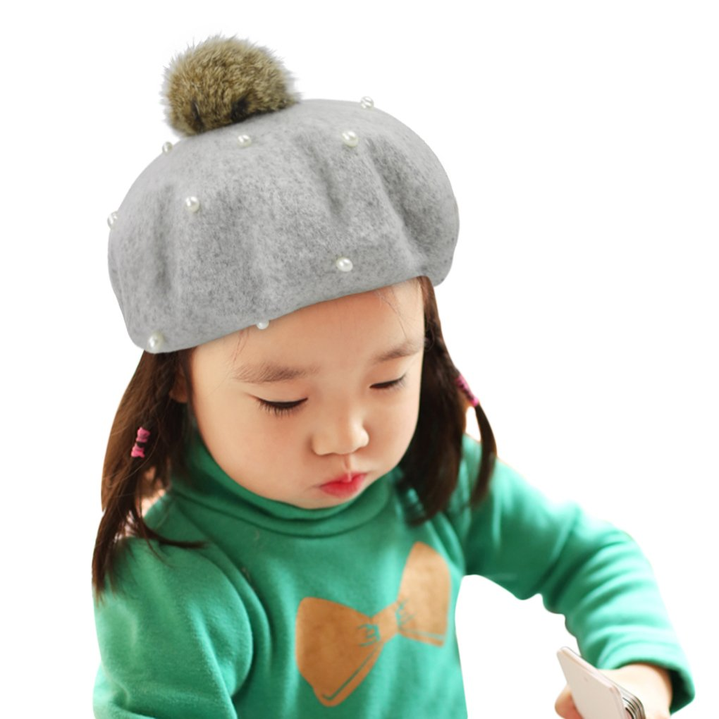 71be7d5f Fakeface 100% Wool French Beret Cap for Kids Girls Boys, Classic Parisian Hat  French Artist Beret Tam Winter Warm Bailey Hat Dome Beanie Cap Hat  Headwear, ...