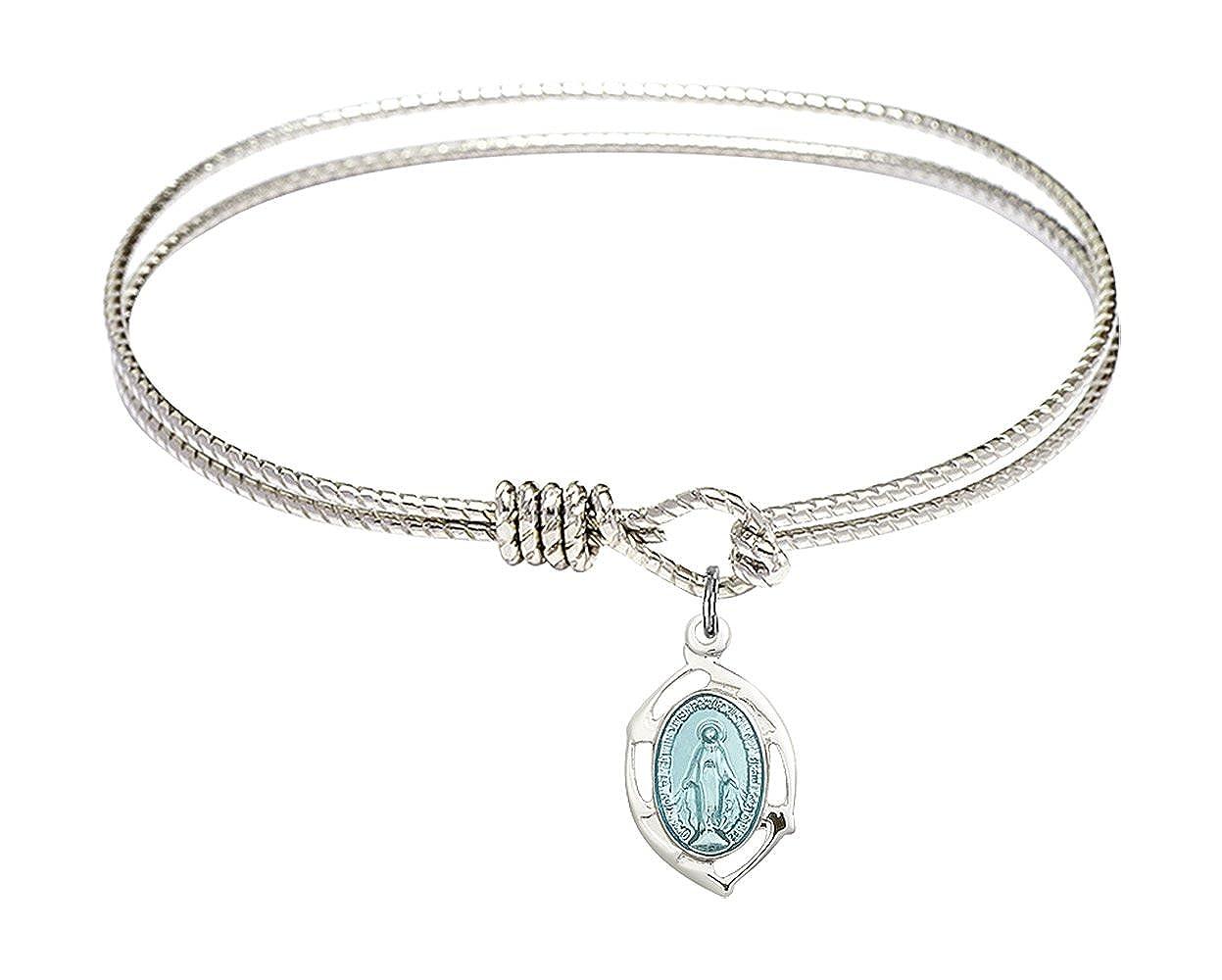 DiamondJewelryNY Eye Hook Bangle Bracelet with a Miraculous Leaf Charm.