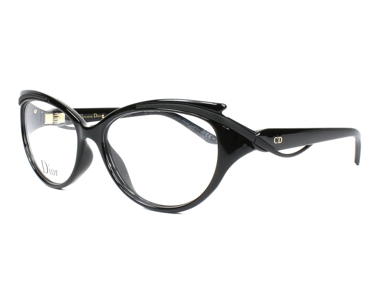 8256f73385c5 Amazon.com  DIOR Eyeglasses 3278 09Ok Shiny Matte Black 54MM  Clothing