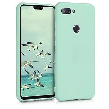 kwmobile Funda para Xiaomi Mi 8 Lite - Carcasa para móvil en [TPU Silicona] - Protector [Trasero] en [Menta Mate]