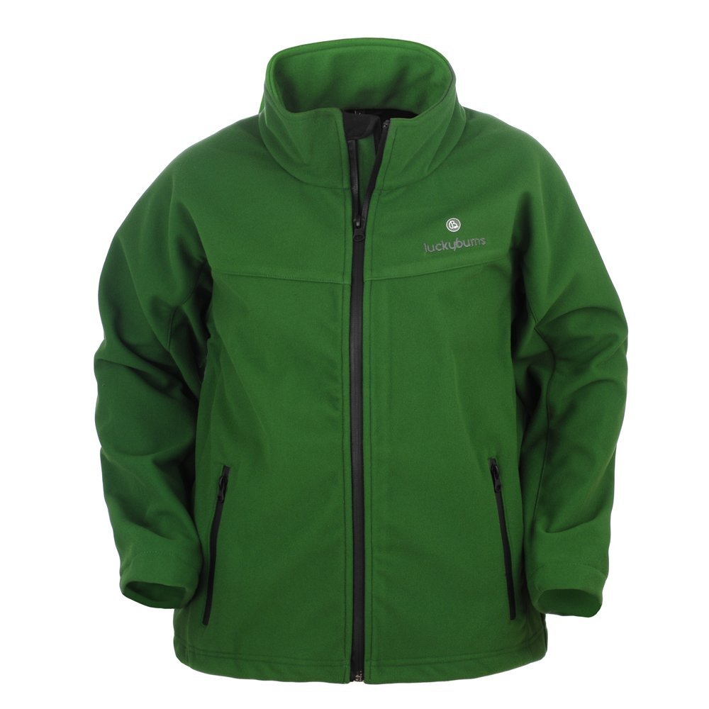 Lucky Bums Kid's Soft Shell Jacket, Green, Small 200GRXL