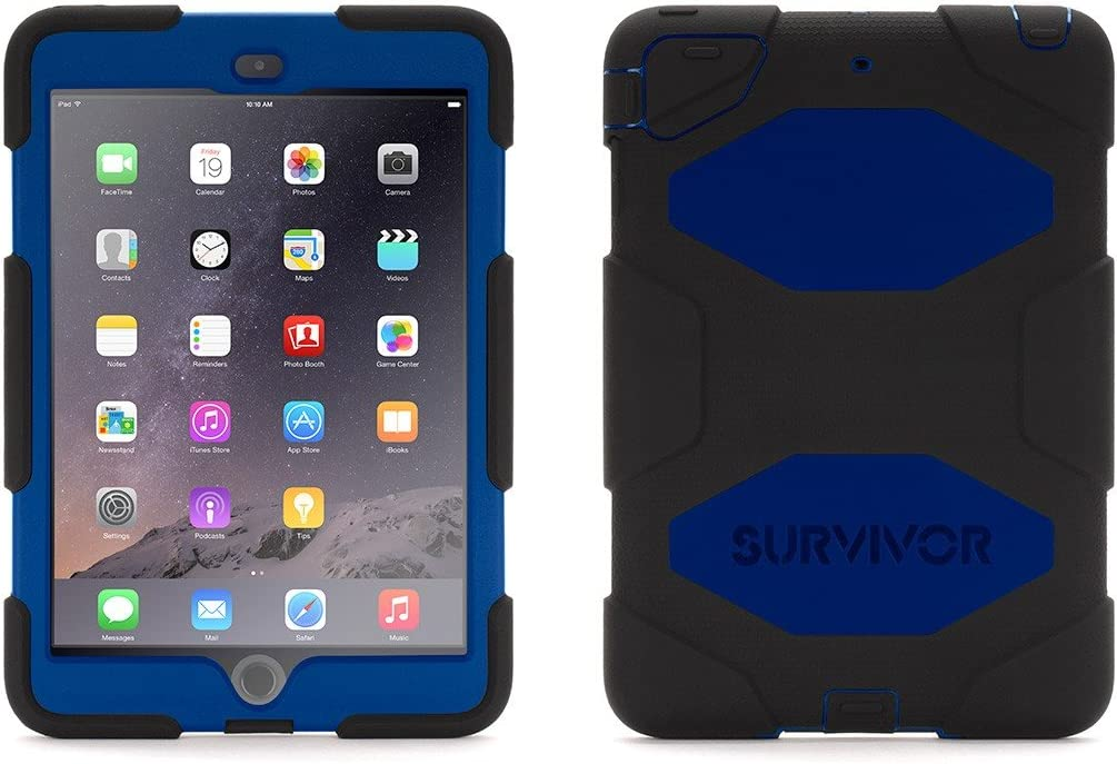 Griffin Technology Black/Blue Survivor All-Terrain Case + Stand for iPad Mini