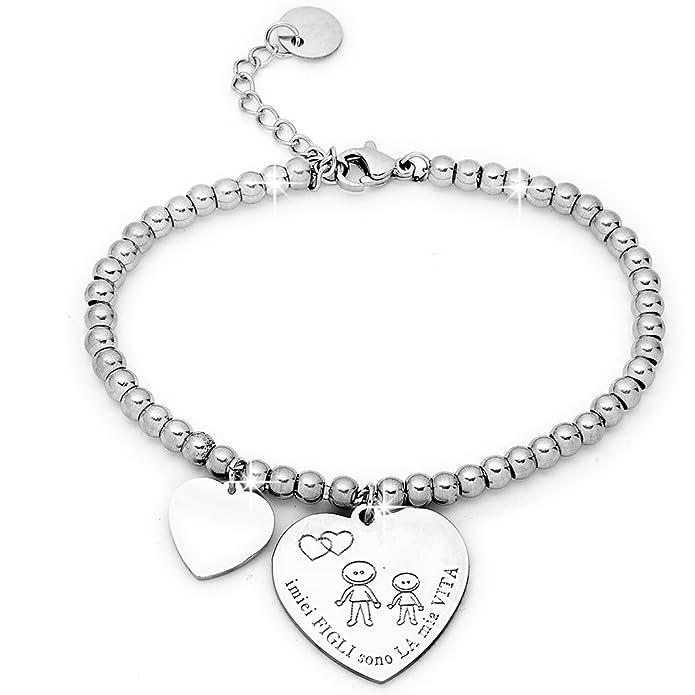 81 opinioni per Beloved ❤️ Bracciale da donna, braccialetto in acciaio emozionale- frasi,