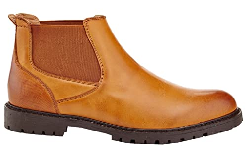 5f01351ef40 Franco Vanucci Men's Formal Slip On Jacob Casual Chelsea Dress Boots