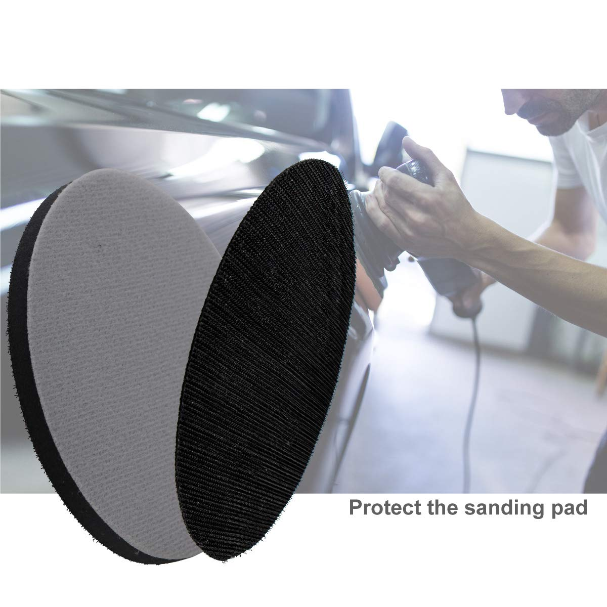 5 Inch Interface Pad Soft Sponge Sanding Disc Backing Pads Hook and Loop Attachment Power Tools Accessories 125mm by VIBRATITE