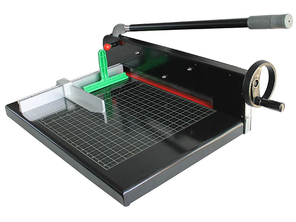INTBUYING Manual Paper Cutter/Trimmer Heavy Duty Guillotine Black Desktop A3 Size Guillotine Stack by INTBUYING (Image #1)