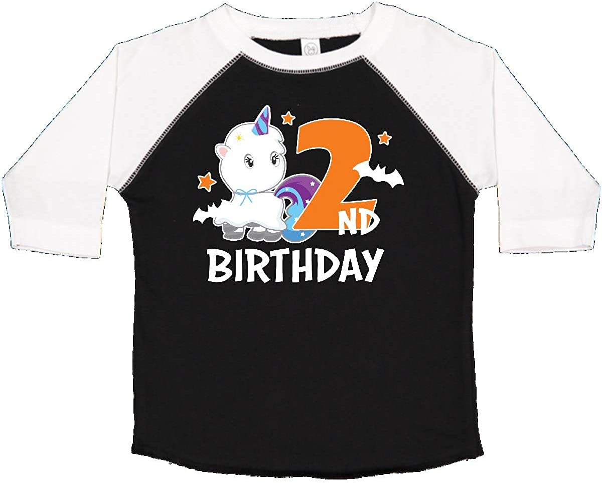 inktastic 2nd Birthday with Unicorn Ghost and Bats Toddler T-Shirt