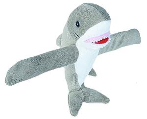 Wild Republic Huggers Great White Shark Plush, Slap Bracelet, Stuffed Animal, Kids Toys, 8 inches