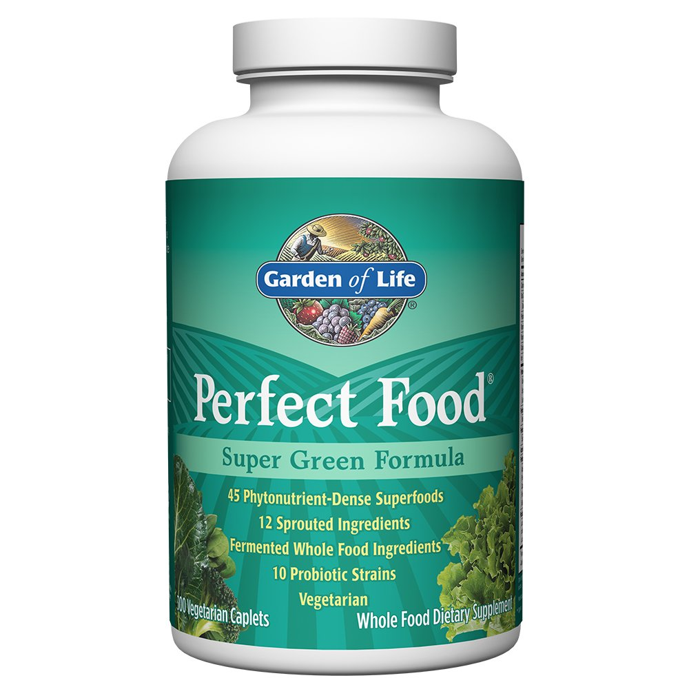 Garden of Life Whole Food Vegetable Supplement - Perfect Food Green Superfood Dietary Supplement, 300 Vegetarian Caplets by Garden of Life