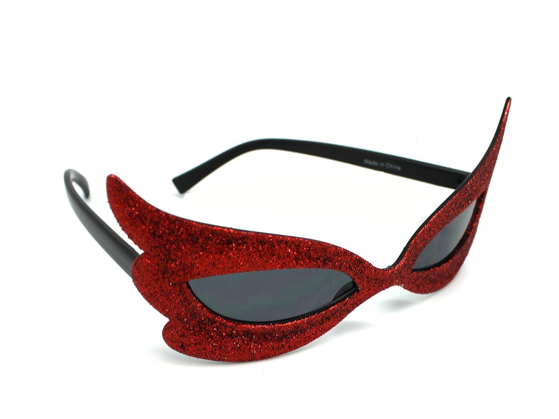 Red Masqurade Style Sunglasses Mardi Gras Sunglasses