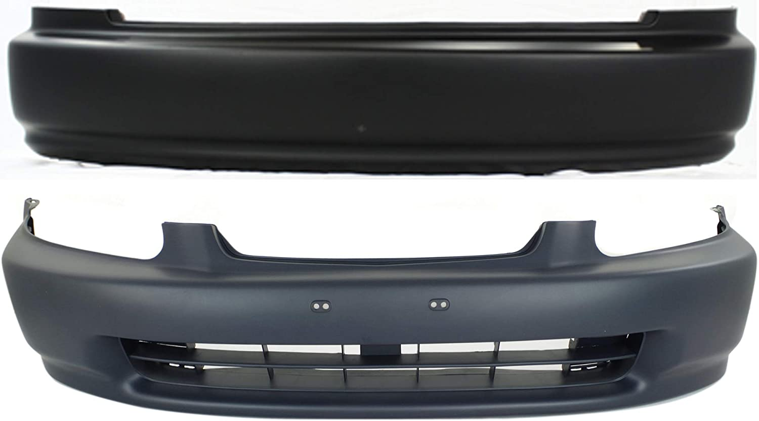 Bumper Cover Compatible with HONDA Civic 1996-1998 Front Rear Set of 2 Primed