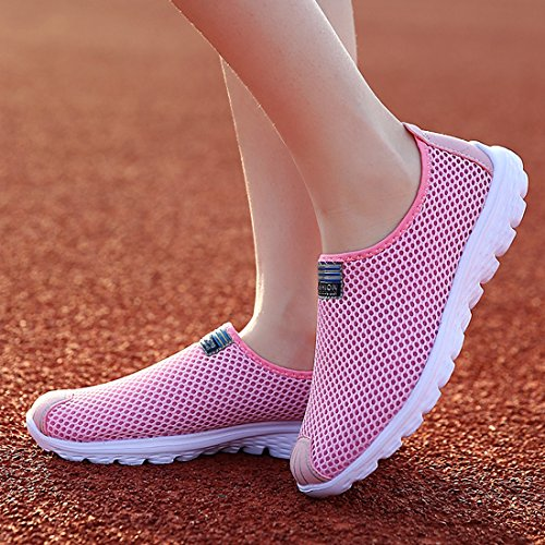 Schuhe SEVENWELL Rosa Mesh Sport Atmungsaktive Mode Unisex Herren Paar Lässige Frauen Turnschuhe HHvZx6
