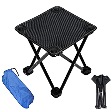 Awesome Mini Folding Stool With Carry Bag Compact Portable Foldable Stool Outdoor Lightweight Camping Chair Stools For Garden Picnic Fishing Travel Hiking Pdpeps Interior Chair Design Pdpepsorg