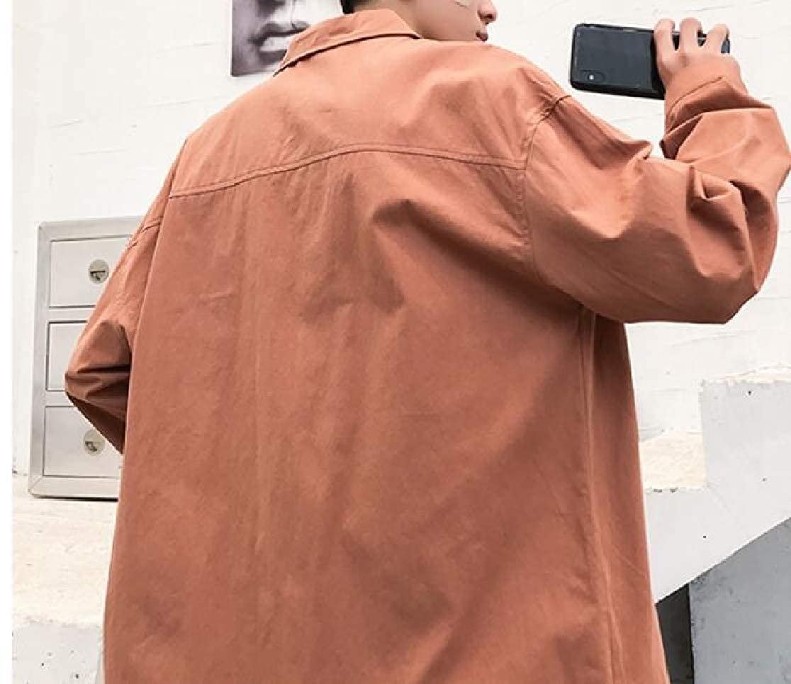 Joe Wenko Mens Solid Slim Cotton Long Sleeve Button-Down Shirt