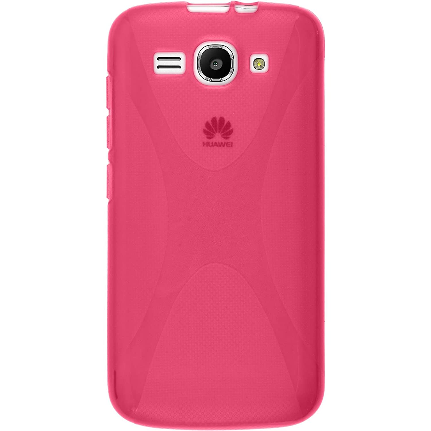 Silicone Case for Huawei Ascend Y520 - X-Style hot pink - Cover PhoneNatic  + protective foils