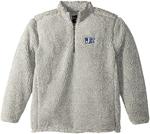 NCAA Jackson State Tigers Adult Men Owen 1/4 Zip Heather Sherpa Pullover, Large, Quarry