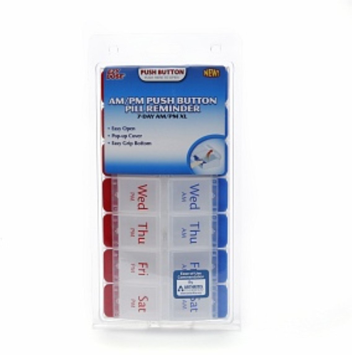 Ezy Dose AM/PM Push Button Pill Reminder 7 Day XL 1 Each (Pack of 8)