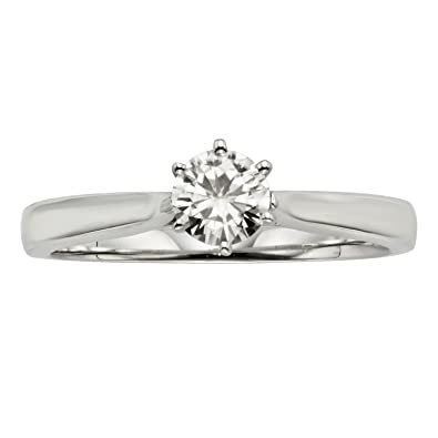 forever classic round 4 5mm moissanite ring 0 33ct dew by charles