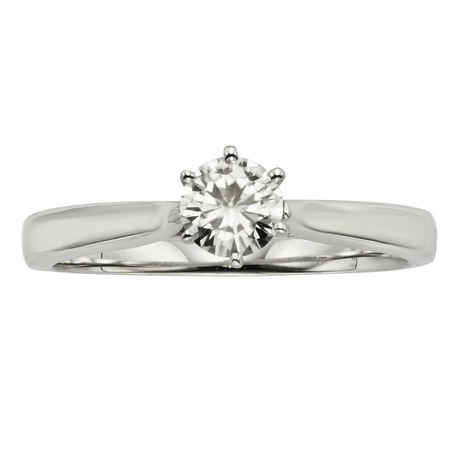 Forever Classic Round 4.5mm Moissanite Ring, 0.33ct DEW - size 6 by Charles & Colvard