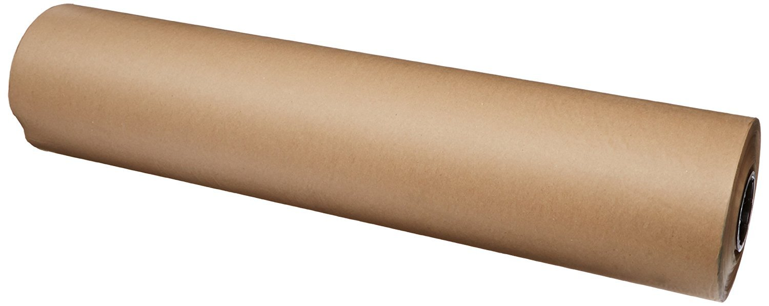 "Brown Kraft Paper Roll 36"" x 150ft (1800 inches) Single Roll 