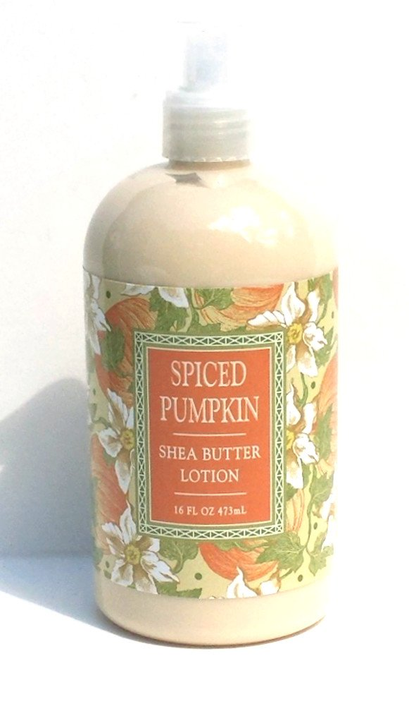 Greenwich Bay Spiced Pumpkin Hand and Body Lotion with Shea Butter, Pumpkin Oil, Clove Oil and Cocoa Butter 16oz