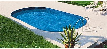Mountfield AZURO Ibiza VBL10 - Piscina de pared de acero ovalada (800 x 416 x 120 cm, con lámina interior, sin sistema de filtro): Amazon.es: Jardín
