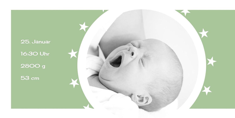 Kartenparadies Danksagung für für für Geburt Baby Dankeskarte a new star, hochwertige Danksagungskarte Baby inklusive Umschläge   100 Karten - (Format  215x105 mm) Farbe  Hellbraun B01MRBYPST | Exquisite (mittlere) Verarbeitung  | Düsseldorf Online Sho 606708