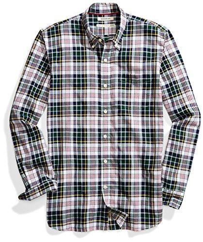 - Goodthreads Men's Standard-Fit Long-Sleeve Lightweight Madras Plaid Shirt, Green/White Plaid, XX-Large