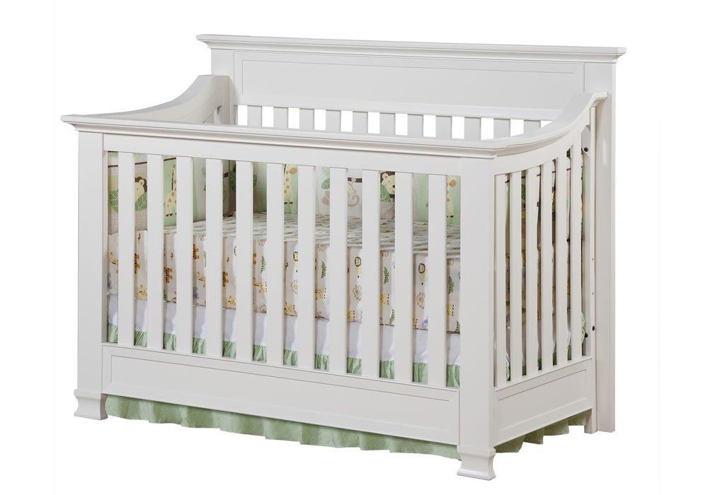 Full Size Conversion Kit Bed Rails for Baby Cache Covington Crib - White