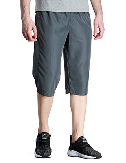 94f534387f44f8 Camel Mens Casual Shorts, Lightweight Breathable Long Shorts Loose Fit Walk  Shorts Stretch for Running Workout Gym Grey at Amazon Men's Clothing store: