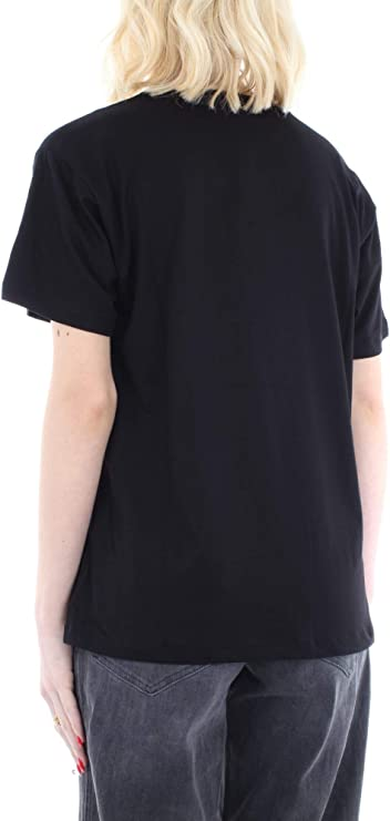 Michael Kors MH95MEU97 Camiseta Mujer Negro/Plata S: Amazon.es ...