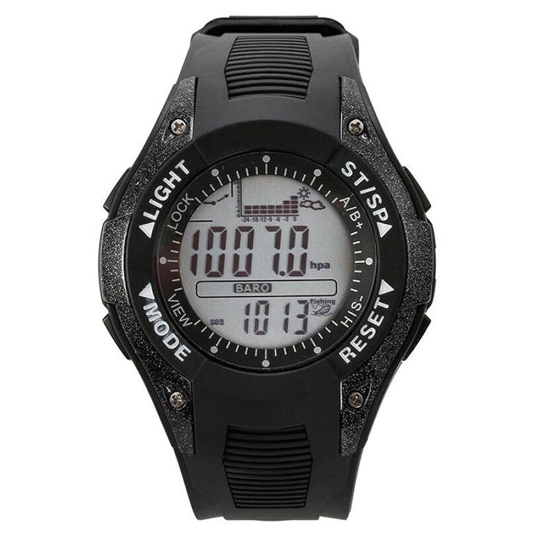 HZHY Smart Watch釣りバロメーターCompetition ABS + PUストラップエア圧力、温度、高度、天気予報、釣りトラッキングWatchメンズ