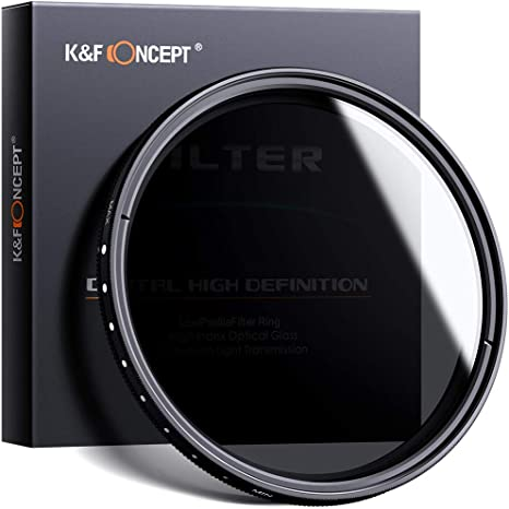 K&F Concept Filtro Variable ND2-ND400 para Objetivo 40.5mm con Funda (9 Pasos): Amazon.es: Electrónica