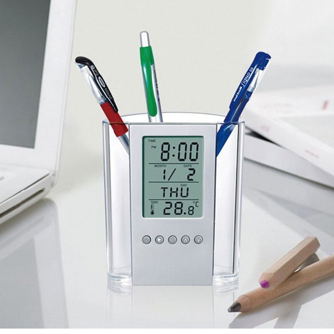 Independent Desk Mesh Pen Pencil Holder Office Supplies Multifunctional Digital Led Pens Storage Pen Holders