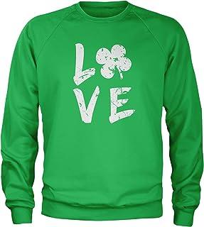 Expression Tees Love Shamrock Clover Crewneck Sweatshirt