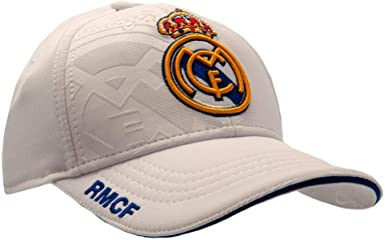 Real Madrid CF - Gorra Blanca (Talla Única/Blanco): Amazon.es ...