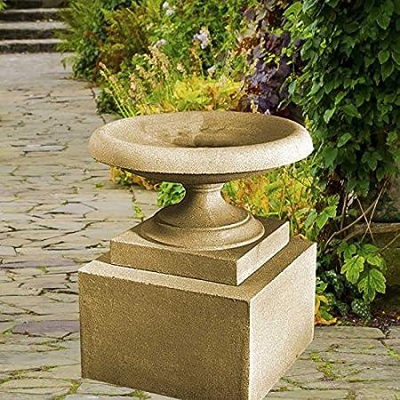 Jardín Jardín de ensueño Deko-Shop-Hannusch – Fuente de piedra, baño de pájaros, color ocre: Amazon.es: Jardín