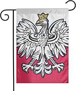 Holiday Seasonal Yard Garden Flags Polish Flag Eagle Single Sided Premium Durable Bright Polyester, 12 X 18 Inch