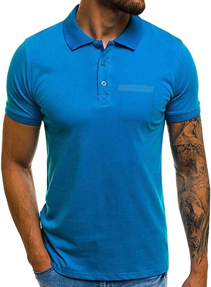 Camiseta Hombre Verano Polo Camiseta Deporte Manga Corta Color sólido Moda Diario Slim Fit Casuales T-Shirt Blusas Originales Camisas algodón Suave básica Camisetas Varios Modelos vpass: Amazon.es: Ropa y accesorios