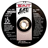 United Abrasives-SAIT 22370 Cutting Wheel Type 27 A46N, 7-Inch by 0.045-Inch by 7/8-Inch, 50-Pack