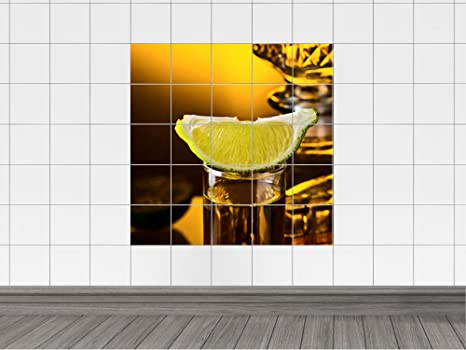 Sticker adesivo per piastrle piastrelle immagine per cucina tequila