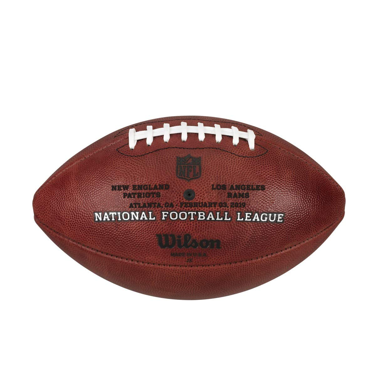 a8312253c29 Amazon.com   Wilson NFL Super Bowl LIII (53) Official Football New England  Patriots vs Los Angeles Rams   Sports   Outdoors