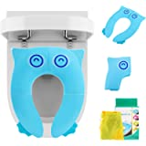 LEADSTAR Potty Seat for Toilet, Foldable & Portable Potty Training Seat, Toilet Seat Cover with Non Slip Silicone Pads…