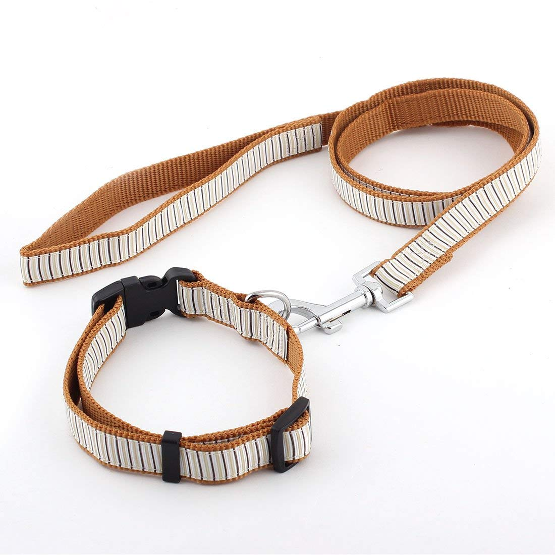 Nylon Pet Dog Round Rope Hook Type Durable Leash Strap Drawstring Sky bluee Red
