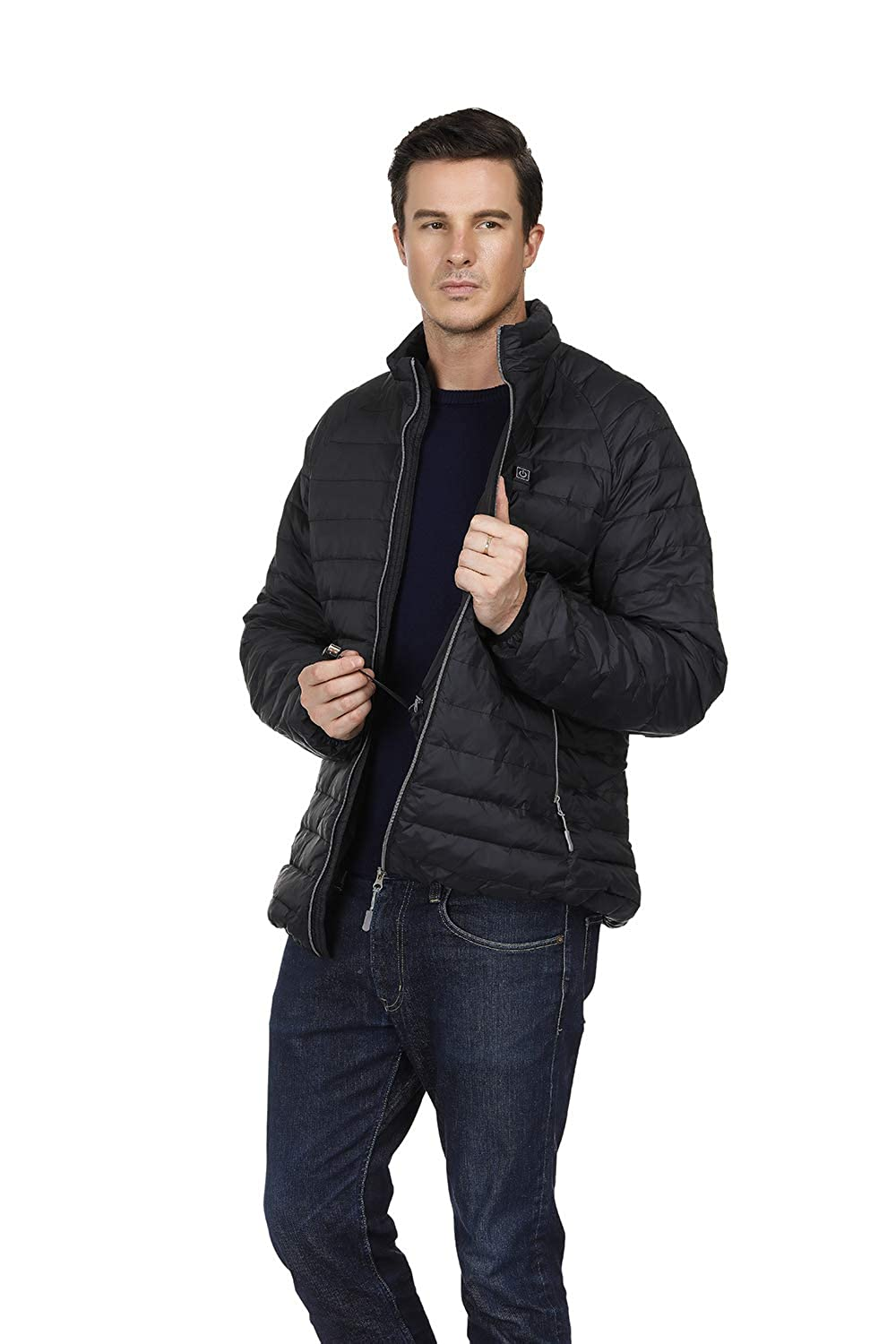 ORQ Mens Soft Heated Jacket 7.4 V Battery Electric Waterproof Warm Heating Clothing